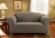 Sure Fit Pique 1pc Sofa Slipcover Box Seat Cushion in Gray