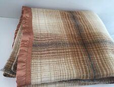 Vintage 100% Wool Blanket Plaid Made in Australia