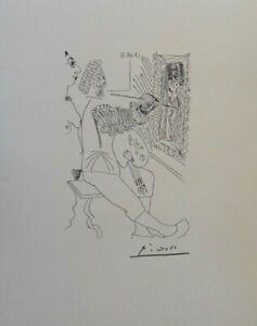 Pablo Picasso(After) - Painter Of Naked - Lithography Erotic Signed, 1200ex