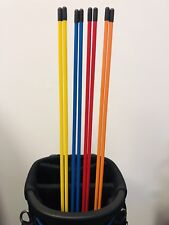 6 X Golf Alignment Sticks New Mix colours  ***BARGAIN***