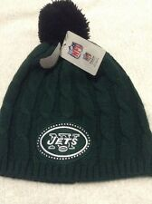 NFL Jets Lady's Knit Hat Green With Pompon