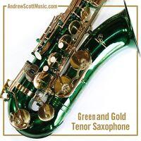 Green Tenor Saxophone in Case - Masterpiece