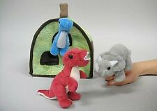 """Dino Finger Puppet Play House 8"""" by Unipak"""