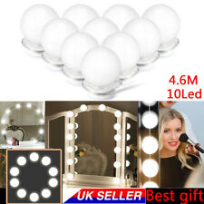 10 Led Bulbs Hollywood Mirror Lights Vanity Makeup Bathroom Dressing Table Light