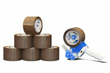 """BROWN PACKING TAPES WITH DISPENSER 1.75 MIL 3"""" X 110 YDS HEAVY DUTY-NEW 12 Rolls"""