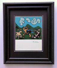 Pablo Picasso Original 1955 Firmado Magnífico Linograbado Mate 11 X 14 + List