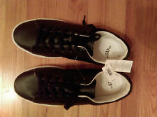 GAP LEATHER SHOE SNEAKERS SIZE 11 BLACK NWT
