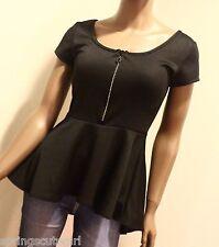 Rue 21 Black Sparkly Zipper Short Sleeve Size ~ Small Girl Teen