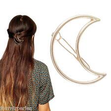 FP Epingle à Cheveux Pince Barrette Lune Doré Femme Fantaisie Cadeau 5.6x4.3cm