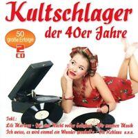 KULTSCHLAGER DER 40ER JAHRE  2 CD NEU