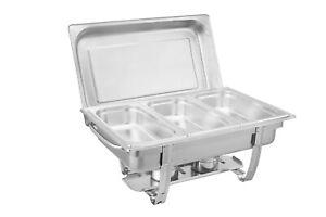 Chafing Dish Speisenwärmer  Warmhaltebehälter Wärmebehälter Speisewärmer 3x1/3GN