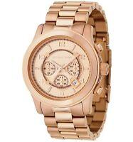 New Michael Kors Runway Rose Gold Chronograph Stainless Steel MK8096 Men's Watch