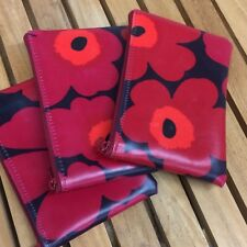 "Handmade Marimekko Unikko OIL CLOTH 4x6"" coin purse, Christmas gift Finland"