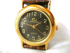 CENERE Damen Armbanduhr Uhr mit Lederband-Krokoprägung