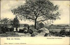 Gruss aus STENUM ~1910 Hünen-Gräber alte AK Verlag Lobstein in Delmenhorst