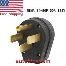 NEMA 14-50p 50A 125-250V US Four Holes Plug DH Industrial Grade Straight Blade