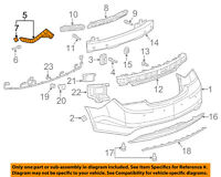 GM OEM Rear Bumper-Mount Bracket Left 22890962