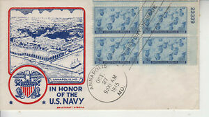 FDC#935 NAVY NIELSEN SMARTCRAFT SPECIAL BEAUTIFUL CACHET PLATE BLK UNADDRESSED