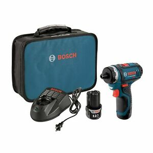 Bosch PS21-2A 12-Volt 0-1,300 Rpm Max Lithium-Ion 2-Speed Pocket Driver Kit