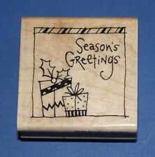 Stampendous 'Greetings' Christmas Rubber Stamp