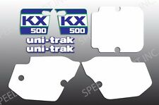 KAWASAKI 1988 KX 500  WICKED TOUGH KIT SHROUDS SIDES SWING ARM DECALS GRAPHICS