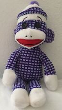 Ty Beanie Babies Purple White Sock Monkey Animal Plush 2013 Retired