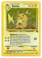 Raichu - Fossil Set - 14/62 - Holo-foil Rare - Pokemon Card - Heavily Played