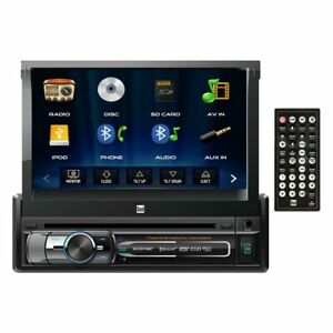 Dual XDVD176BT 7 Single-din In-dash Dvd With Motorized Touchscreen Bluetooth