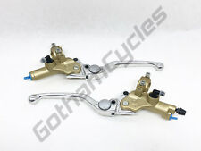 New Ducati OEM Brembo Gold Front Brake & Clutch Master Cylinders Levers Set