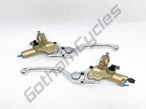 Ducati 748 996 998 Monster Gold Front Brake & Clutch Master Cylinder Lever Set
