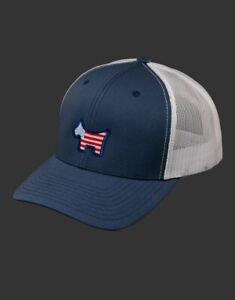Scotty Cameron 2021 U.S. Open Hat- USA Scotty Dog - Mesh Snapback- Navy/White