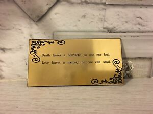 Memorial Plaque Funeral In Memory Brass Effect Urn Sign Family Dog Urn pet