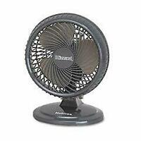 "Lil' Blizzard 7"" Two-Speed Oscillating Personal Table Fan  Plastic  Black"