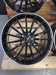 17 Zoll UA4 Alu Felgen 5x112 schwarz glanz für Mercedes C  B Klasse GLK GLA AMG