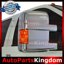 08-16 Ford Super Duty with Turn Light Signal Triple Chrome plated Mirror Cover