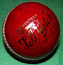 One MCC 4.75oz Hand Stitched Red / Ox Blood LEATHER Cricket Ball INTERIOR DESIGN