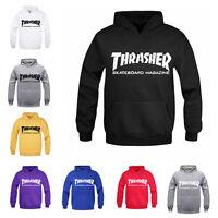 Unisex Thrasher Flame Pullover Hoodie Sweaters Skateboard Sweatshirt Men Women