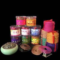 48pcs/Pack Rose Lavender Jasmine Spiral Incense Coils Natural Sandalwood Incense