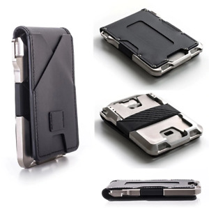 New 2021 - Tactical RFID Leather Card Holder Money Clip Wallet Antitheft US Army