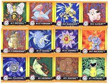 POKEMON LOT de 12 STICKERS ENGLISH CARD 50X50 1998 N° LSTICK12 005