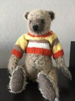OOAK Artist mohair teddy bear (handmade, vintage style) 11.5 in