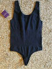 Yummie Tummie Navy Ruby Scoop Neck Body Suit Thong M/L L/XL NWT