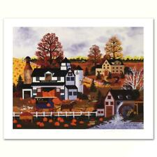 """Jane Wooster Scott """"Textures of Autumn"""" Limited Edition Lithograph on Paper"""