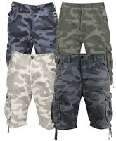 New Mens Designer Smith & Jones Fin Camouflage Cargo Shorts Pants
