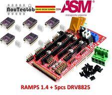 RAMPS 1.4 Control Panel Reprap + 5pcs DRV8825 Stepper Motor Drive