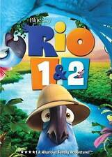 Rio 1 & 2 New DVDS (2) New DVD Movie lot RIO 1 & RIO 2 FREE SHIPPING