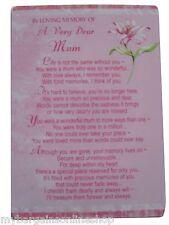 In Loving Memory Of A Very Dear Mum Grave side Memorial Card