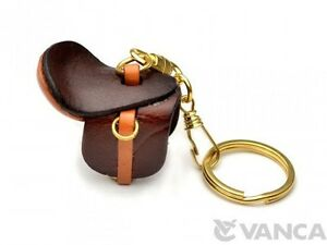 Saddle Handmade 3D Leather (L) Keychain/Charm *VANCA* Made in Japan #56131