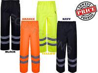 High Vis Waterproof Work Wear Hi Viz Over Trousers. Black, Navy, Orange, Yellow!