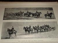1896 Castagno Team E Batteria Royal Cavallo Artiglieria Guns